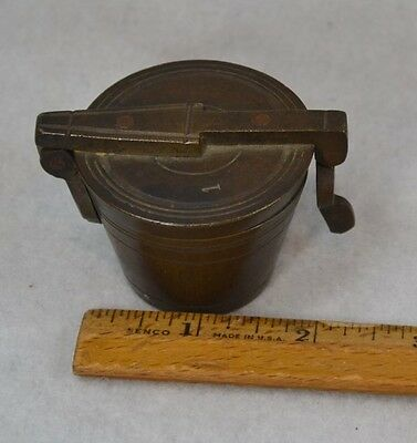 weights brass set scale original box G. Rammes grams antique original 1800s