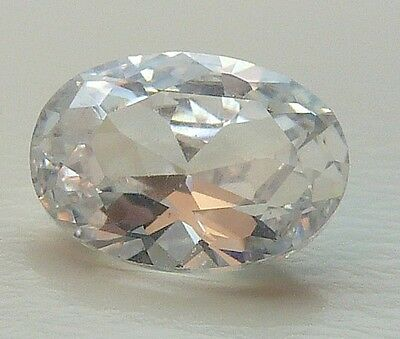 AAA CA 1,19 CT 7,00x5,00 MM OVAL CZ / COLOUR WHITE no. 52/ CZ / AAA