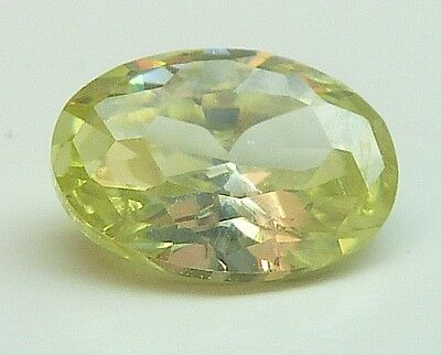 AAA CA 1,19 CT 7,00x5,00 MM OVAL CZ / COLOUR OLIVE no. 31/ CZ / AAA