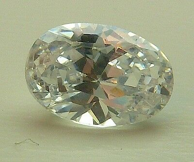 AAA CA 1,19 CT 7,00x5,00 MM OVAL CZ / COLOUR WHITE no. 51/ CZ / AAA