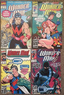 Wonder Man #1 2 3 4 Marvel Comics 1991 with Poster