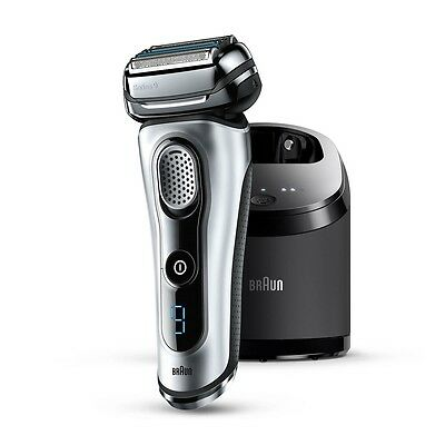 Braun Series 9 9090CC Men's Electric Shaver with Clean & Charge Station - Silver