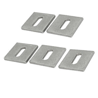 50mmx50mmx5mm Stainless Steel Stretcher Marble Bracket Stone Fixing Plate 5pcs