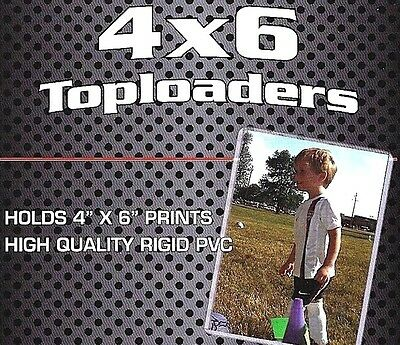 50 New 4X6 Rigid Topload Holder Photo Postcard Print Protector Toploader