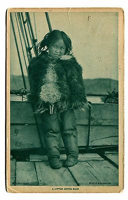 Vintage Postcard LITTLE ARCTIC MAID Benj Hampton Eskimo Inuit North Pole Gravure