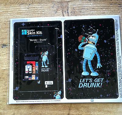 Amazon Kindle 4th Gen DecalGirl Matte Skin Kit  ~ BENDER - Drunk by Futurama New