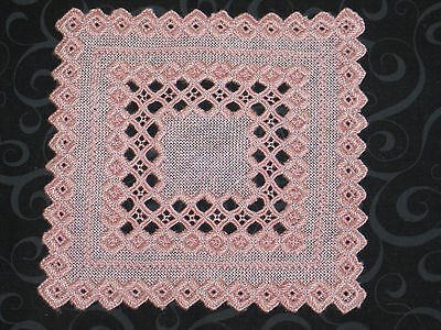 Antique VTg Norwegian Hand Embroidered Hardanger Lace Doily Centercloth
