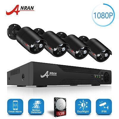 ANRAN 720P 1800TVL AHD Security Outdoor DVR CCTV Camera HDMI Video System IP66