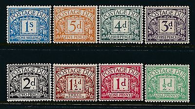 1914 Kgv Postage Dues Set Of 8 Mint Hinged Mh/mm Sgd1-Sgd8 Simple Cypher Wmk
