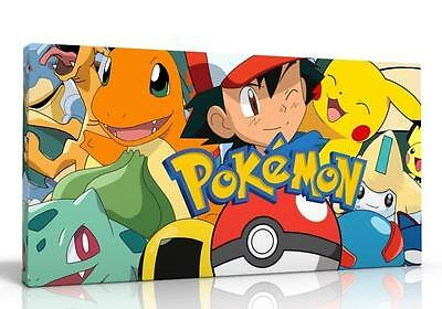 Canvas Picture Wall Artf Pokemon Go Free P&p New  Available 2 Designs