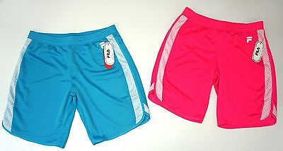 NWT LOT OF 2 SHORTS Fila Brand Girls XL (16) Blue Pink Sport Performance NEW