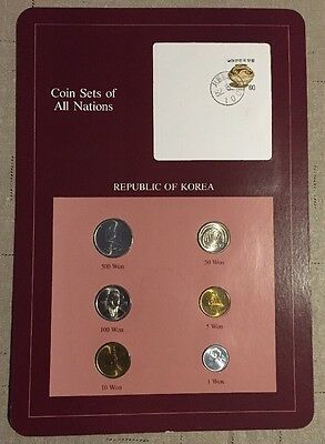 Six Coin Set Uncirculated 1983-1984 SOUTH KOREA Coins Of All Nations
