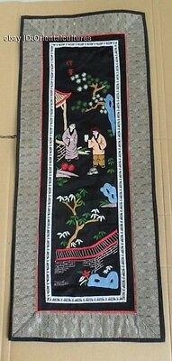 Chinese Peking 100%Handmade Embroidery Art:ancient People life painting screen