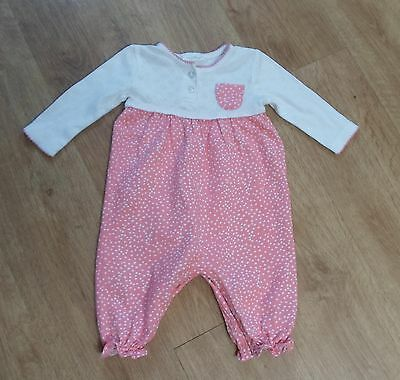 NEXT Baby Girls Spotted Sleepsuit Playsuit 0-3 months