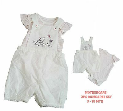 Baby Girls Outfit Set Dungaree Top Tshirt Vest EX MOTHE-CARE Pinafore 3-18Mth