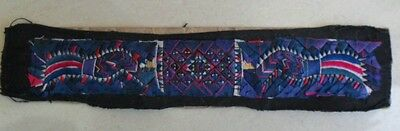 Exotic tribe Chinese Minority people's old hand embroidery