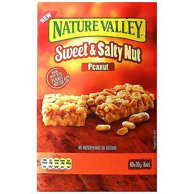 Nature Valley Sweet & Salty Nut Peanuts Oats Healthy Snack 40 x 30g Granola Bars