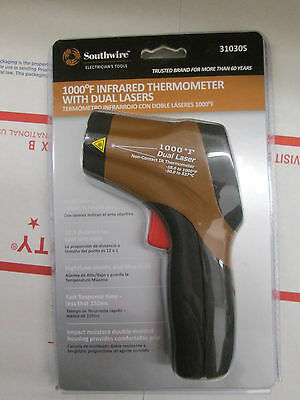SOUTHWIRE 1000 DEGREE INFRARED THERMOMETER w/ DUAL LASERS #31030S NEW