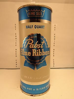 PABST BLUE RIBBON 16oz. FLAT TOP BEER CAN #233-26  MILWAUKEE, WISCONSIN