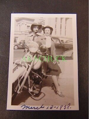 Photos 1938 HARLEY DAVIDSON & INDIAN Downtown MOTORCYCLE COP Oklahoma City