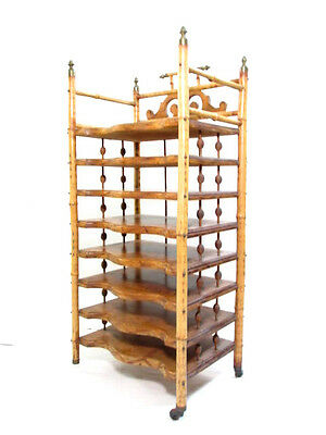 Antique Victorian Bamboo Shelving unit or music rack.