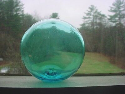 Antique Light Blue Blown Glass Float Fishing Buoy Ball For Fish Net