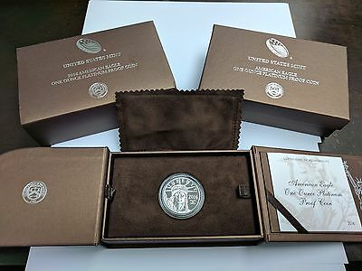 2016 W $100 Platinum American Eagle 1 oz PROOF Coin  Box & COA Included