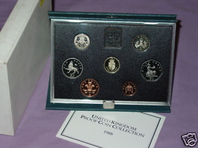 1988 ROYAL MINT PROOF SET COINS FOR UK - Royal Shield Arms £1 Coin