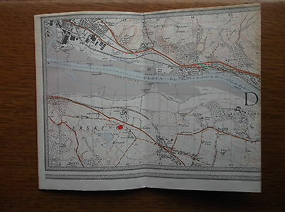 ORDNANCE SURVEY 2.5 INCH MAP THE ANTONINE WALL c1969