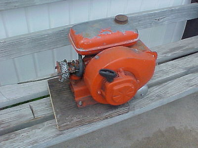 Vintage SMALL Engine UNUSUAL,JACOBSEN ??,orange,old gas engine