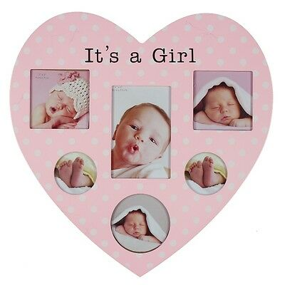 Heart Shape Multi Baby Photo Frame for Boy or Girl Ideal Gift