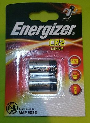 Energizer CR2 Lithium Photo Batteries - Pack of 2 fast free p&p Dated 2023