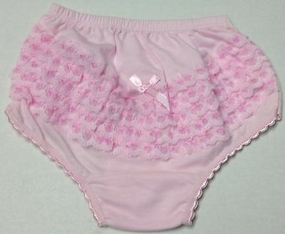 NEW 4-SET BABY GIRL'S/TODDLER 100% COTTON BACK LACE RUFFLES UNDERWEAR Sz: 4,5,6