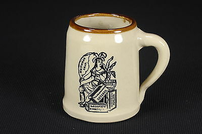 Monmouth Pottery Unlidded Stein Tall Mug Vintage Tobacco Tobacciana Design