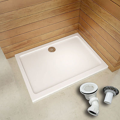 30mm slimline square rectangle stone tray free waste shower enclosure wet room