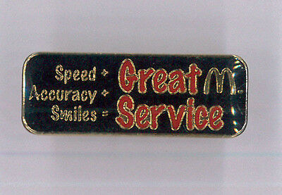 McDonalds restaurant pin - Great Service - fast food collector badge