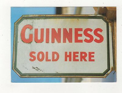 Pub Sign Guinness Sold Here Ireland Postcard 910a