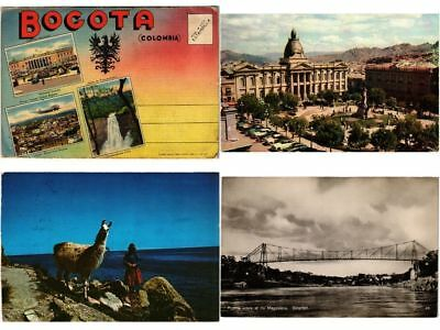 COLOMBIA SOUTH AMERICA 17 Vintage Postcards Mostly pre-1950