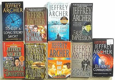 9 books by JEFFREY ARCHER Lot A451 Free US S/H Mystery Suspense