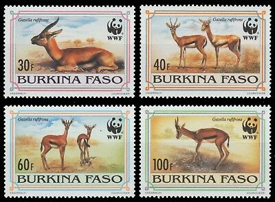 Burkina Faso 1993 - Mi-Nr. 1298-1301 ** - MNH - Wildtiere / Wild animals