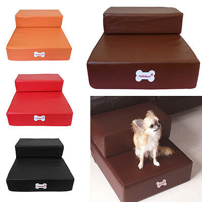 New Pet Stairs Small Dog Cat Home Steps Portable Puppy Ramp Ladder Mat 2 Floors