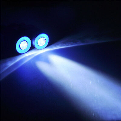 17mm 2Leds Angel & Demon Eyes LED Headlight Back Light 1/10 RC Car Blue+White