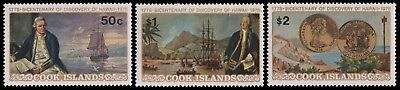 Cook-Inseln 1978 - Mi-Nr. 547-549 ** - MNH - Schiffe / Ships - Cap. Cook
