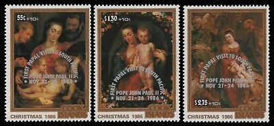 Cook-Inseln 1986 - Mi-Nr. 1132-1134 ** - MNH - Papstbesuch / Papal visit