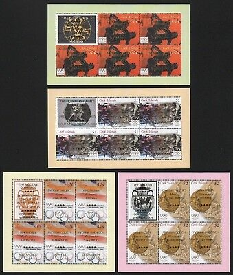 Cook-Inseln 2005 - Mi-Nr. Block 213-216 ** - MNH - Olympia Athen