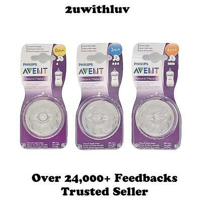 Philips Avent Natural Anti Colic Newborn Medium  Fast Flow Teats Nipples 2 Pack