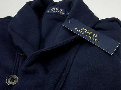 NWT $165 Polo Ralph Lauren Cardigan Button Sweater Mens XL Navy Blue NEW