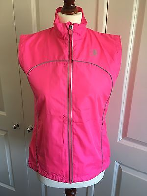 Ladies Pink Karrimor Running Zip Wind Proof Jacket / Gilet, Size 8