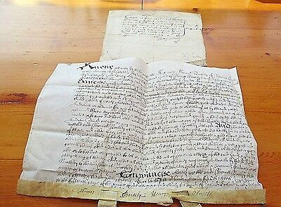 CHARLES 11 INDENTURE. 1663. Thomas Boothby of Park Tooley.
