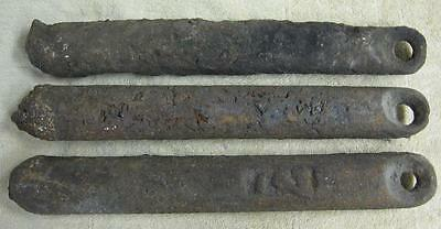 3 Vtg Antique Cast Iron 7 lb Window Counter Weights - Steampunk Industrial